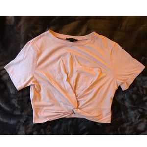 F21 Pocketed Twist Front Crop Tee (S)